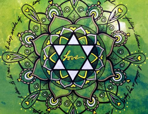 Heart Chakra Mandala Wall Art