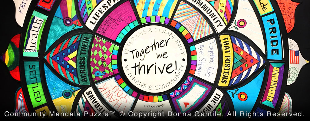 Community Mandala Puzzle™ © Copyright Donna Gentile. All Rights Reserved.