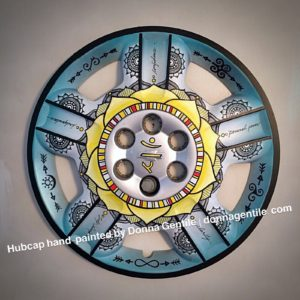Manipura Warrior Chakra Hub Cap for Sale at Brewery Legitimus through mid-September, 2017