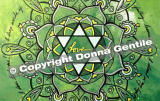 Heart Chakra Manifestation Mandala © Copyright Donna Gentile