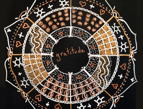 Metallic Gratitude Mandala